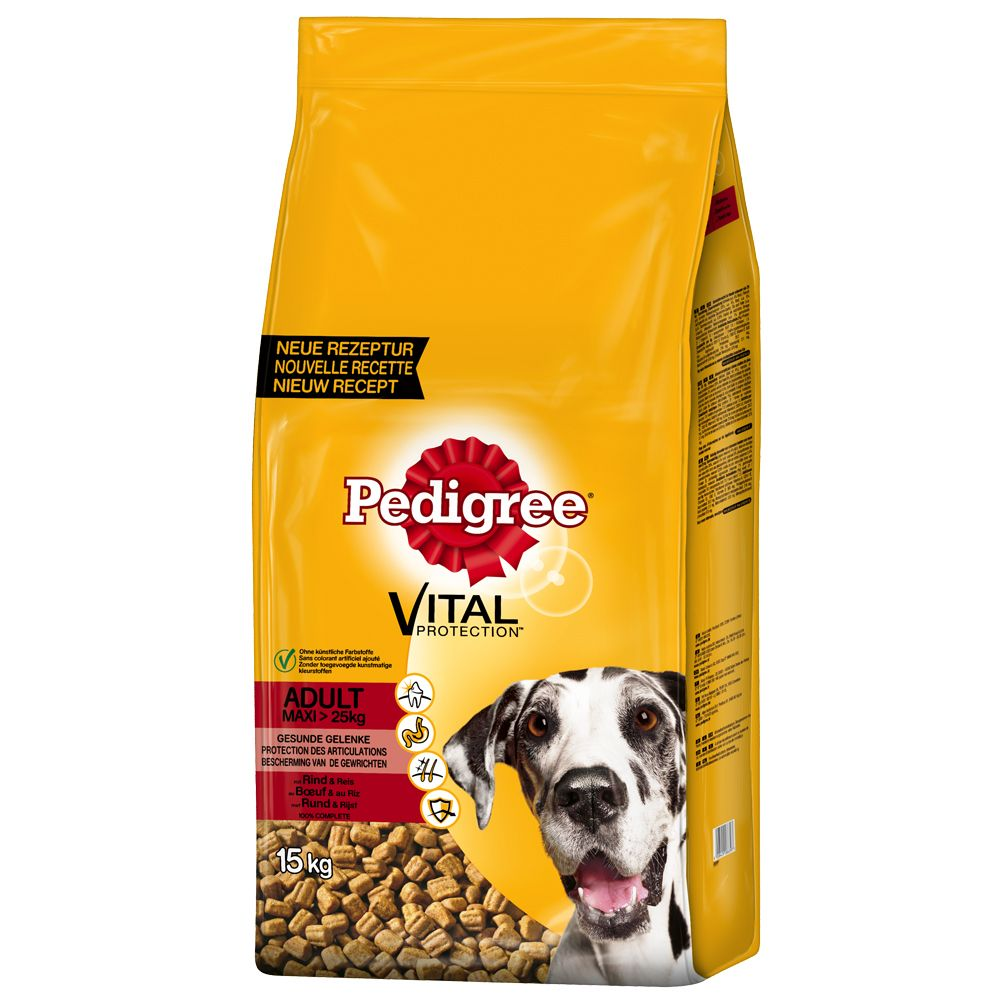 Pedigree Adult Maxi Complete Vital Protection Beef Dry Dog Food