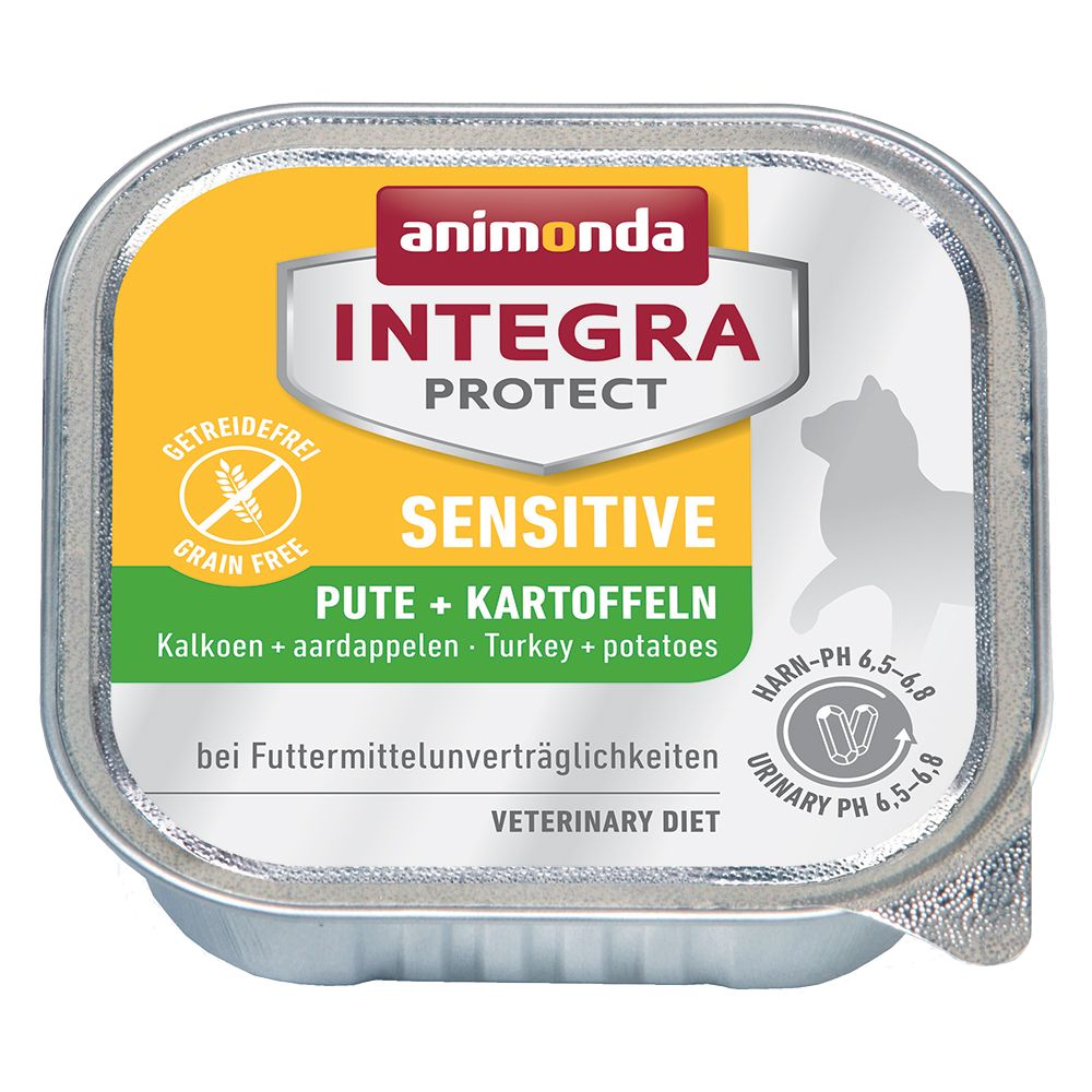 Animonda Integra Protect Adult Sensitive, tacki, 6 x 100 g - Indyk i ryż