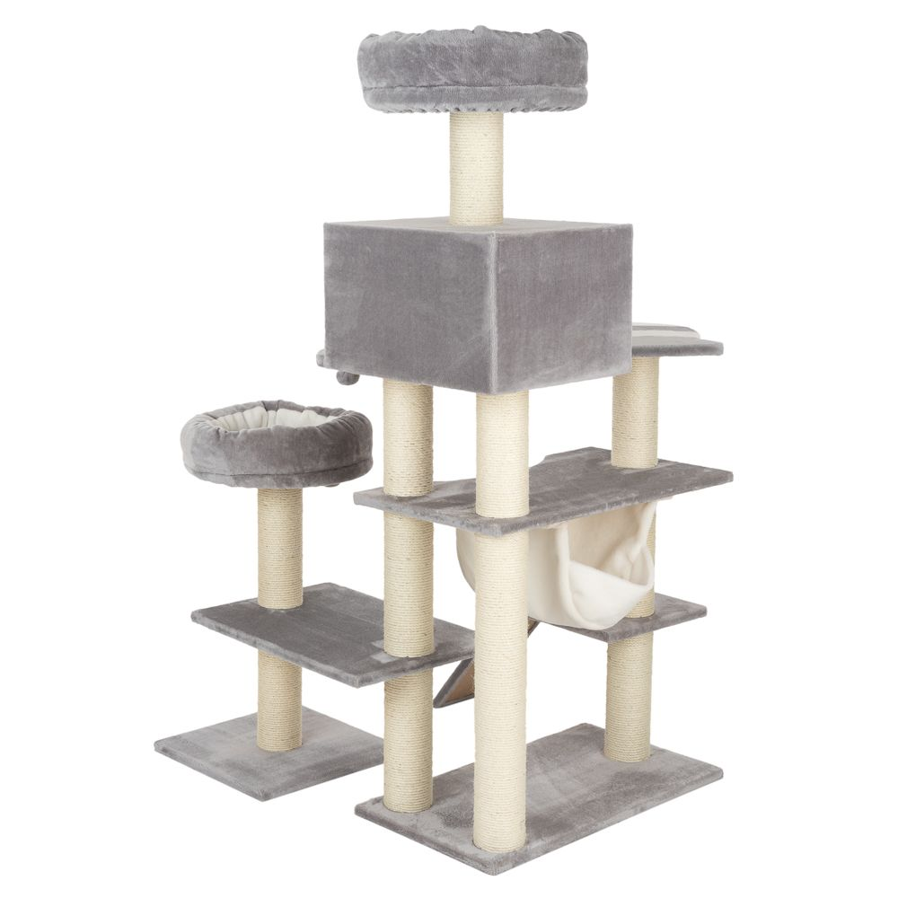 Gingerbread Cat Tree with Ladder - XXL - Grey