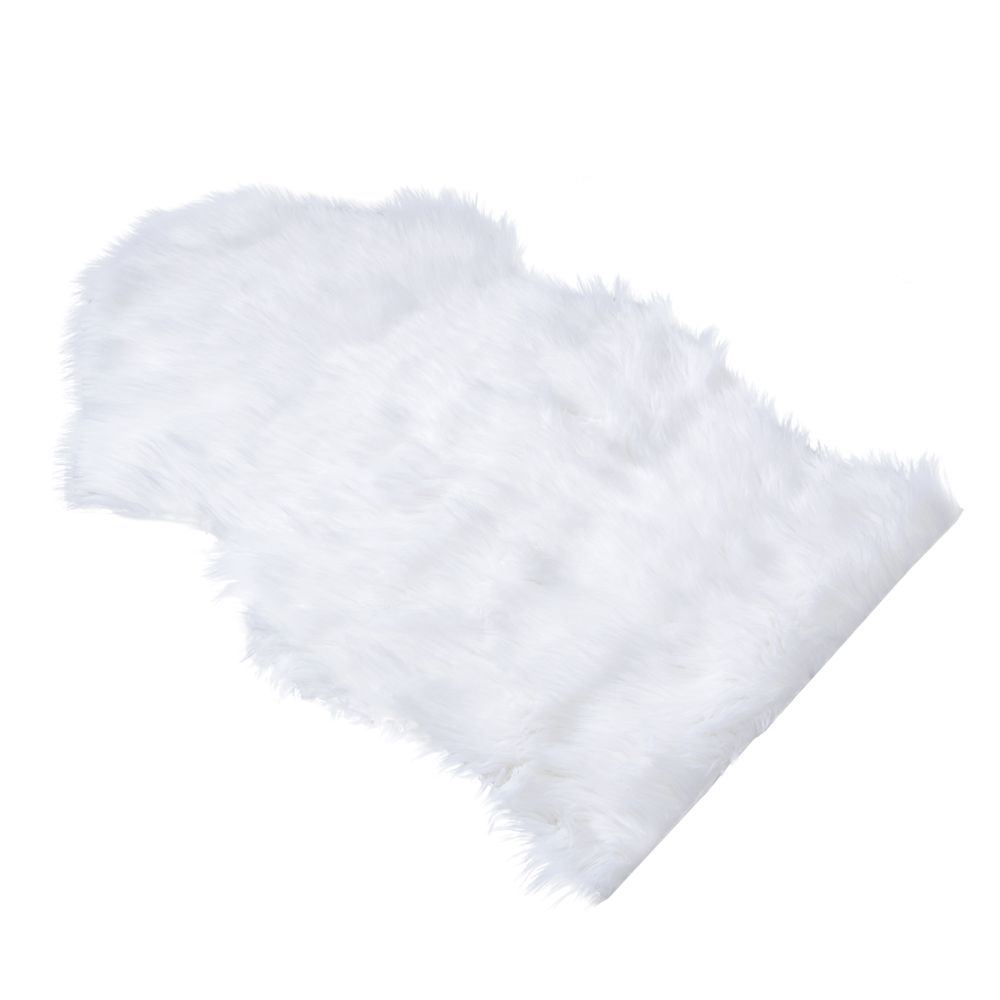 Smartpet Faux Sheepskin Rug for Pets - White