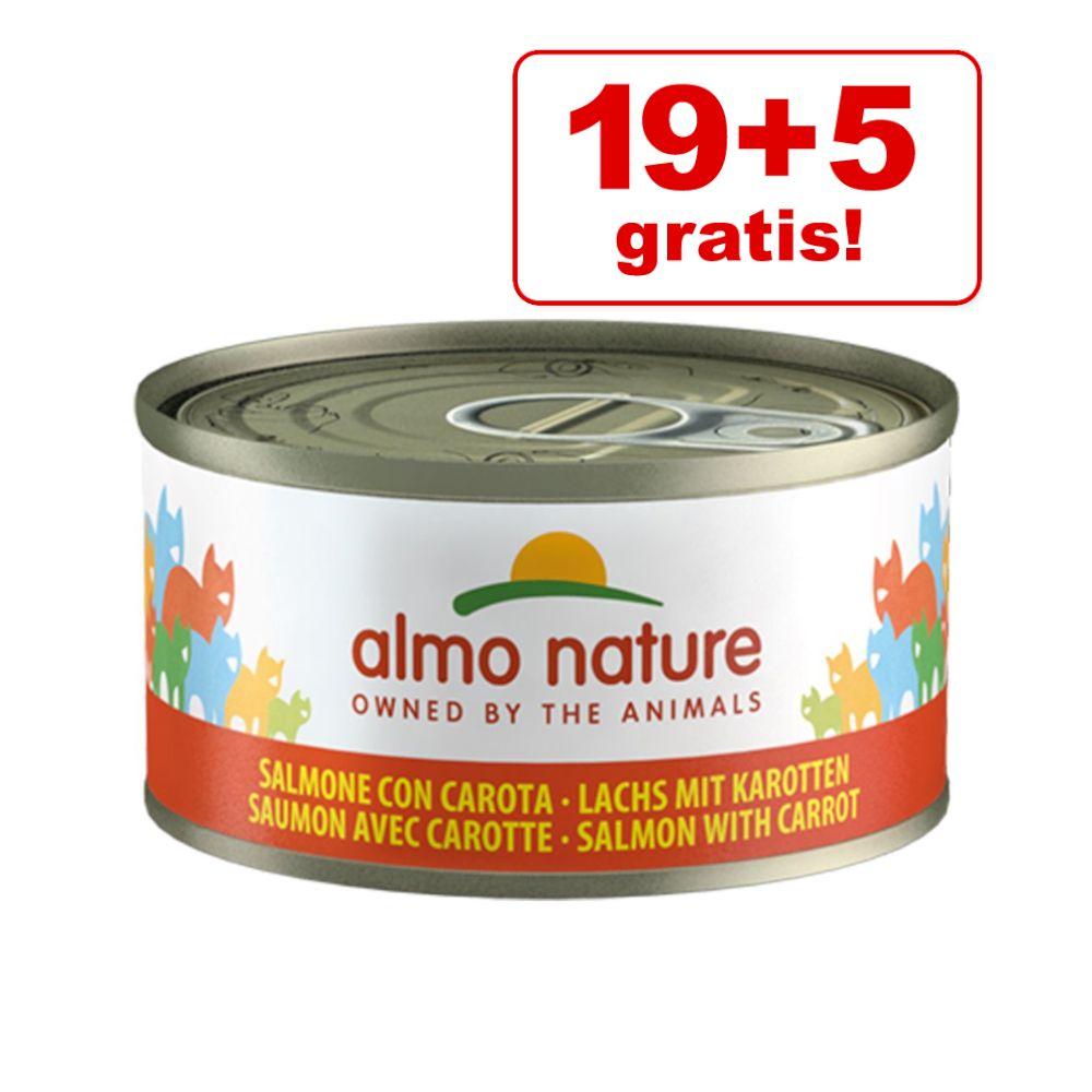 19 + 5 på köpet! Almo Nature 24 x 70 g - Tonfisk från Atlanten