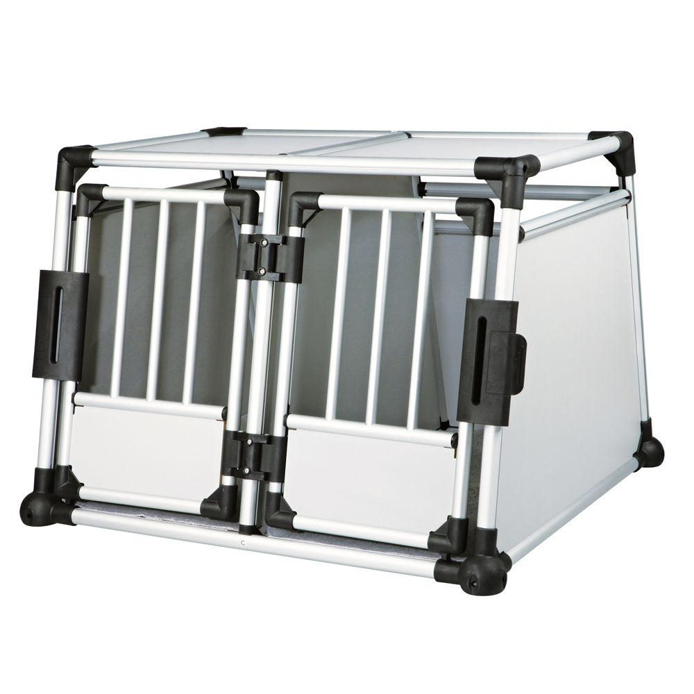 Trixie Aluminium Double Transport Box - Size M-L: 64x88x93cm (HxWxD)