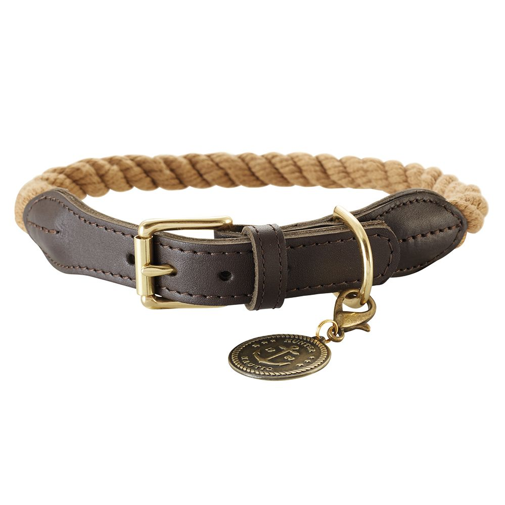 Hunter List Rope Collar Beige Size 50