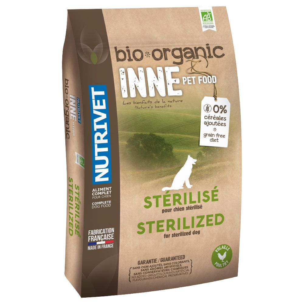 This wholesome Nutrivet Inne Organic Sterilised Dry Dog Food has been based around the example set by nature, with a low-fat, grain-free recipe that is low in carb...