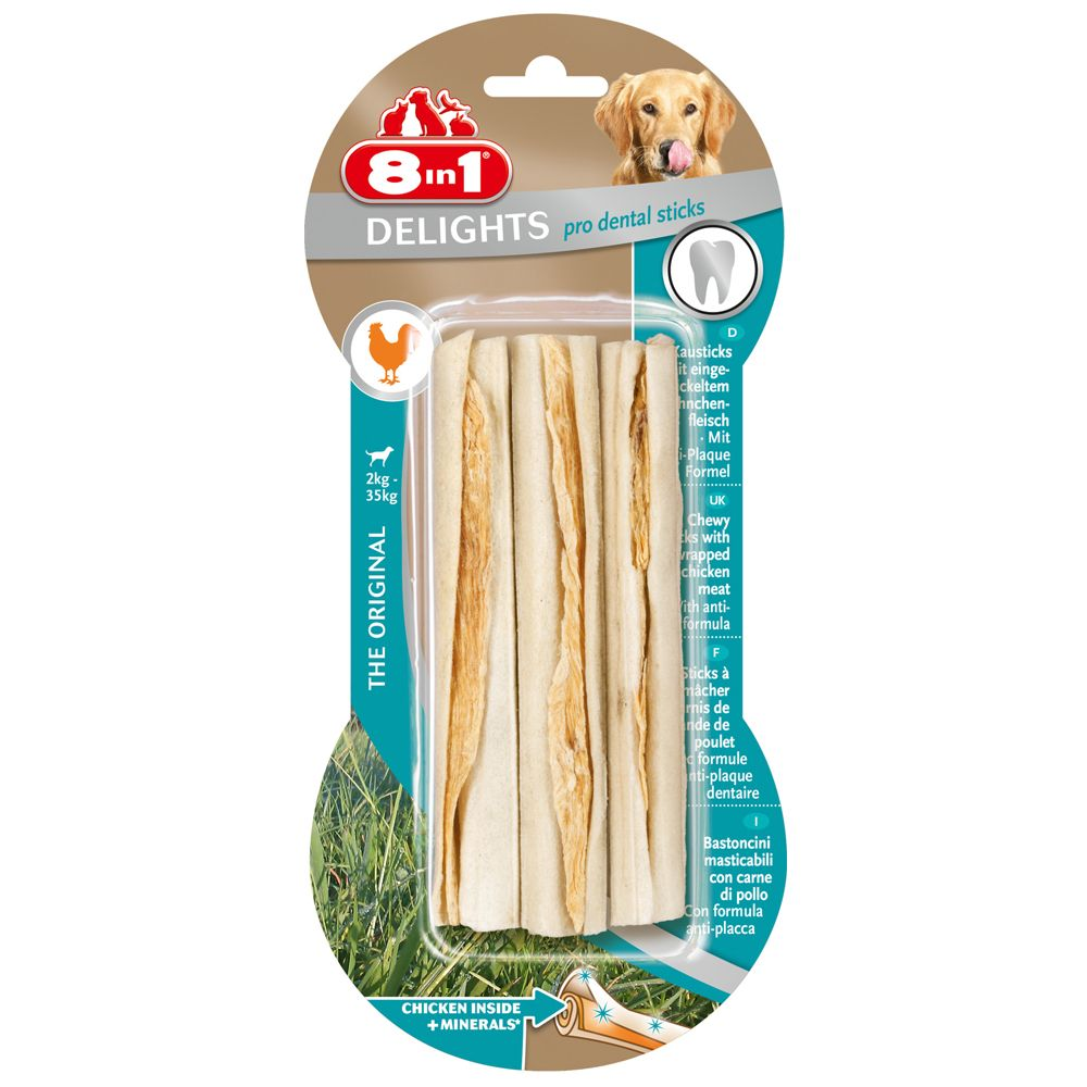 Pro Dental Twist Sticks 8in1 Delights Dog Treats