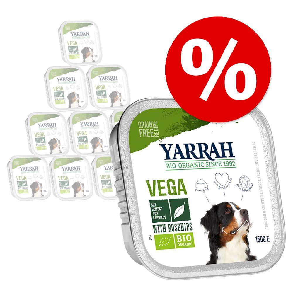 15% rabatt! Yarrah Organic Chunks och Paté hundfoder Paté: eko-nötkött med eko-spirulina