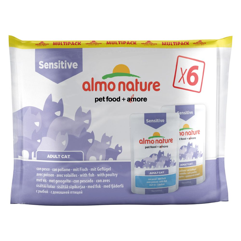 Blandpack: Almo Nature Sensitive Pouch - 24 x 70 g