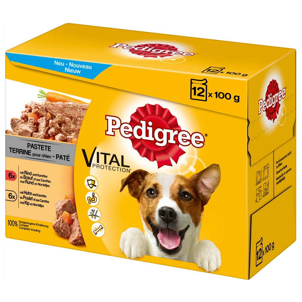 96 x 100g Pedigree Dog Pouches + 28 x Dentastix Daily Oral Care - 5% Off!* - 96 x 100g Junior Jelly Pouches + 28 x Medium Dentastix Daily Oral Care