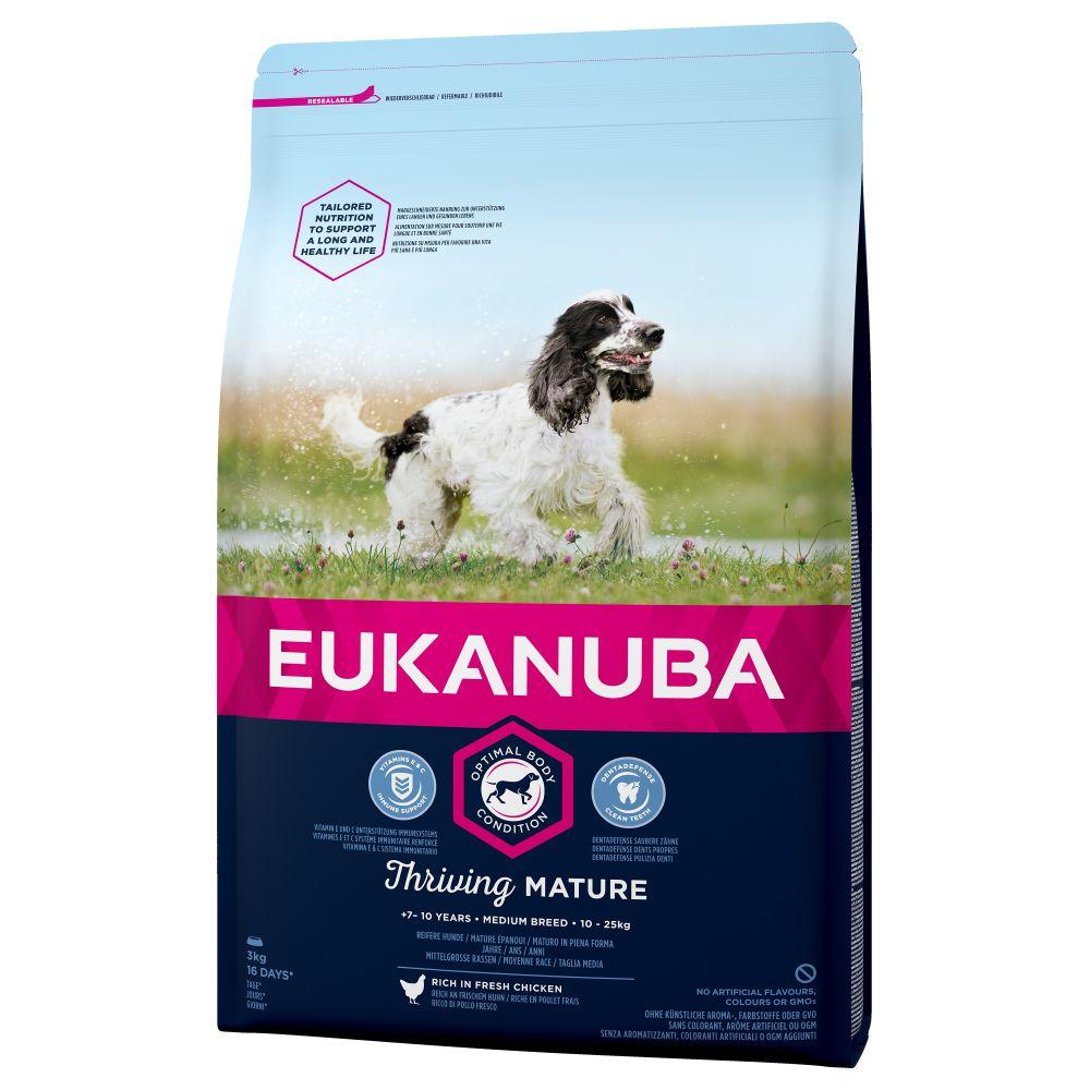 15kg Chicken Medium Breed Thriving Mature Eukanuba Dry Dog Food