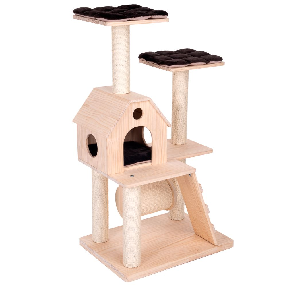 Kitty's Home Scratching Tree - Cream