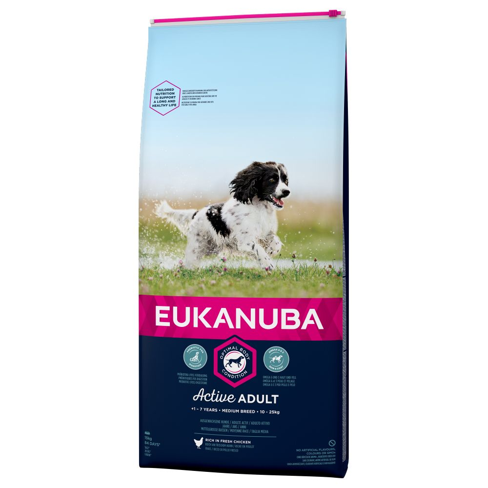 Medium Breed Active Adult Chicken Eukanuba Dry Dog Food