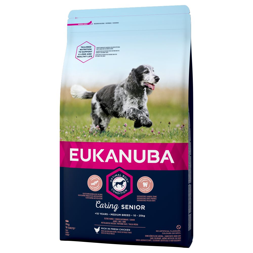 Chicken Medium Breed Senior Caring Eukanuba Dry Dog Food
