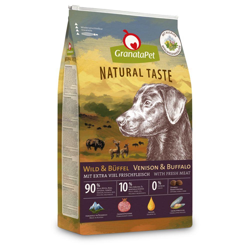 GranataPet Natural Taste Vilt & buffel torrfoder - 12 kg