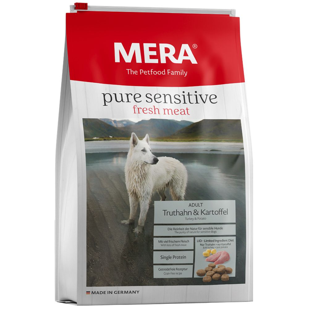 MERA pure dinde, pommes de terre pour chien - 12,5 kg