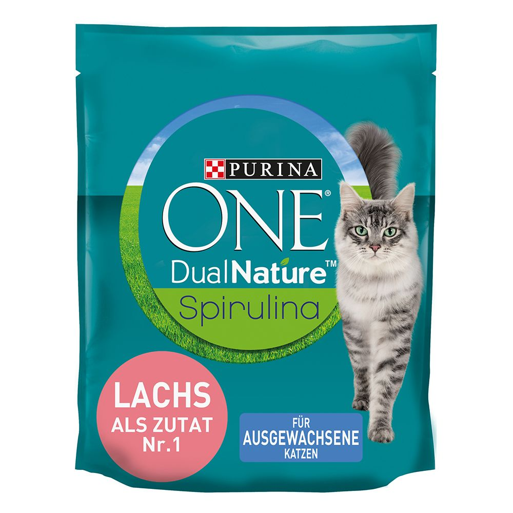 Purina ONE Dual Nature Lax med spirulina - Ekonomipack: 4 x 1,4 kg