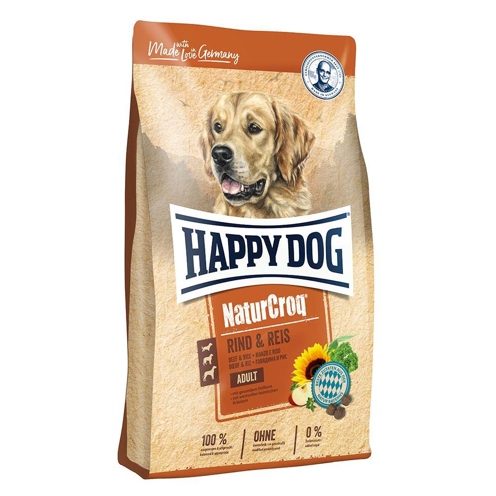 Happy Dog NaturCroq Nötkött med ris 15 kg