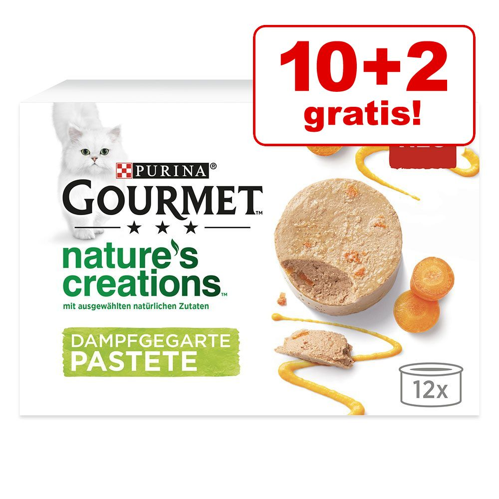 10 + 2 på köpet! 12 x 85 g Gourmet Nature's Creations - Kalkon med spenat & palsternacka