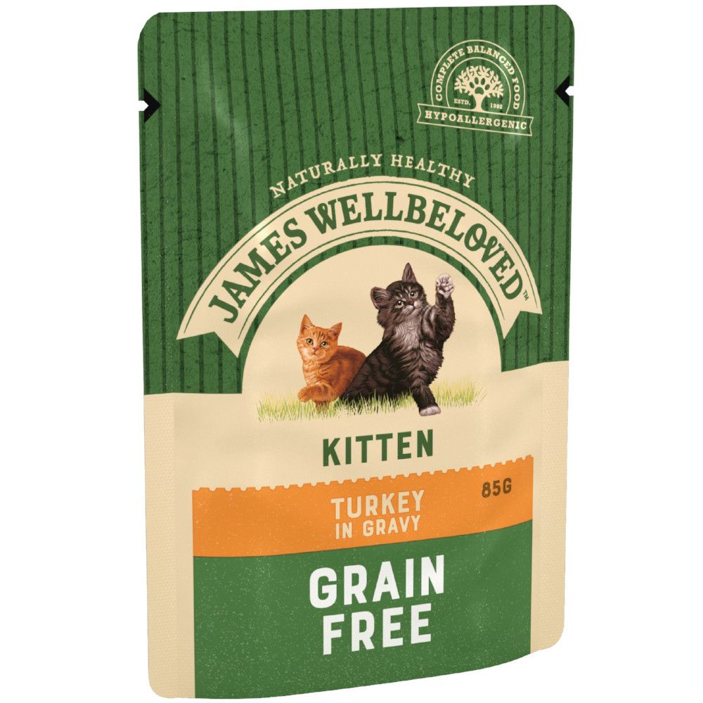 Kitten Turkey Pouches James Wellbeloved Wet Cat Food