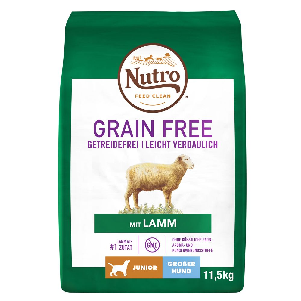Nutro Dog Grain Free Junior Large Lamb - Ekonomipack: 2 x 11,5 kg