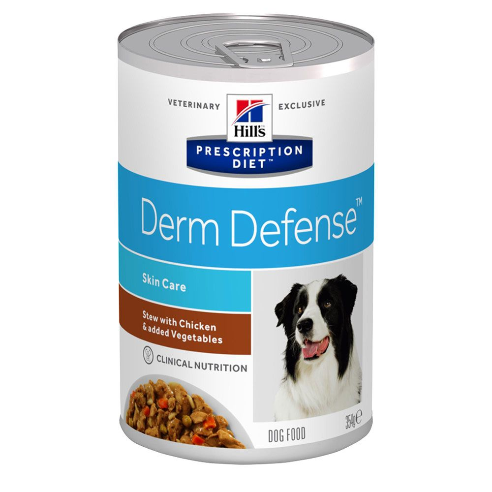 Hill's Prescription Diet Derm Defense Stew hundfoder med kyckling - Ekonomipack: 48 x 354 g