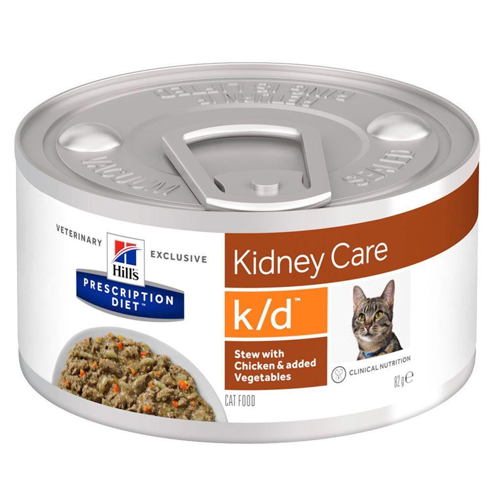 Hill's Prescription Diet k/d Kidney Care Stew med kyckling kattmat - 1 x 82 g