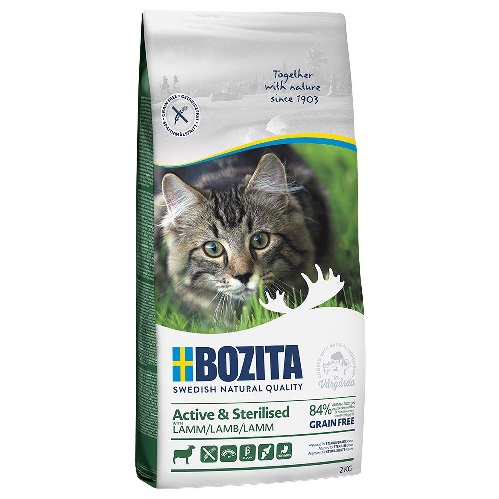 Bozita Grainfree Active & Sterilised Lamm - 2 kg