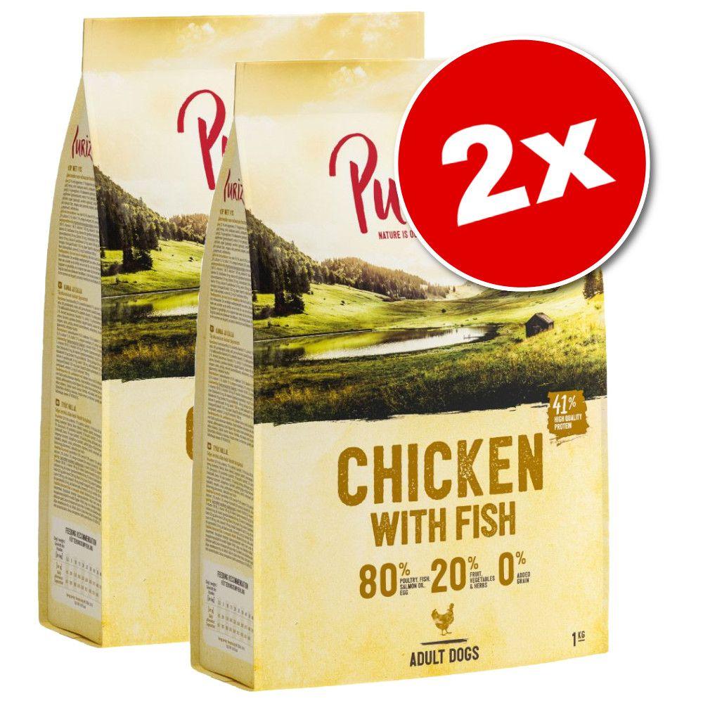 2x12kg Purizon Adult poulet, poisson - Croquettes pour chien