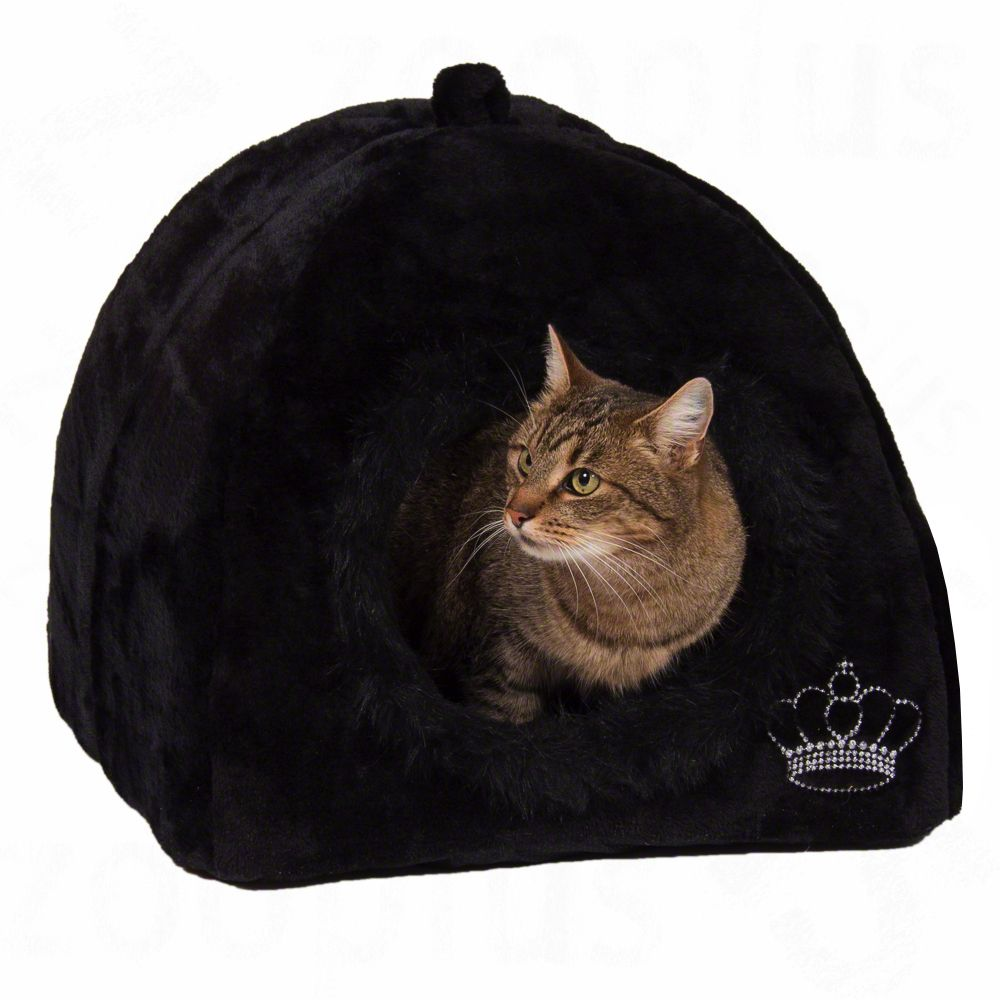 Budka Royal Pet Black, czarne - Dł. x szer. x wys.: 45 x 45 x 45 cm