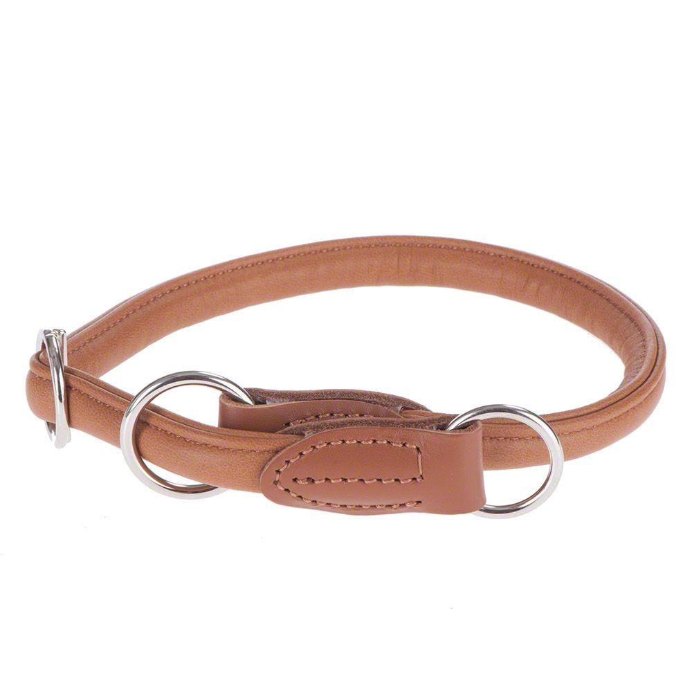 Image of HUNTER Hundehalsband Round & Soft Elk cognac - Größe: max. 50 cm, Ø 10mm