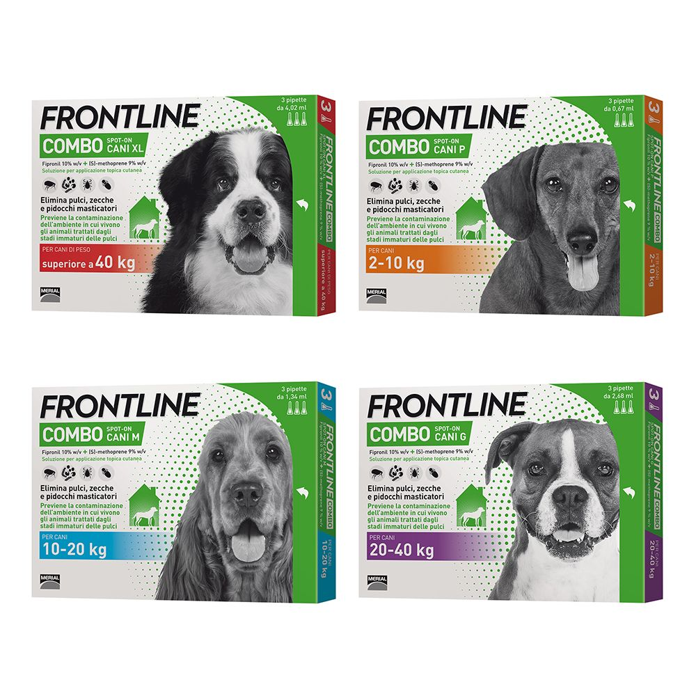 Image of Frontline Combo Spot on Cani - 3 pipette, P peso 2-10 kg (0,67 ml)