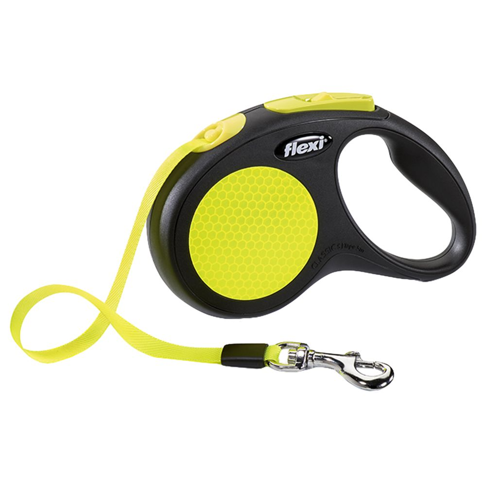 flexi Neon Reflect Tape Dog Lead