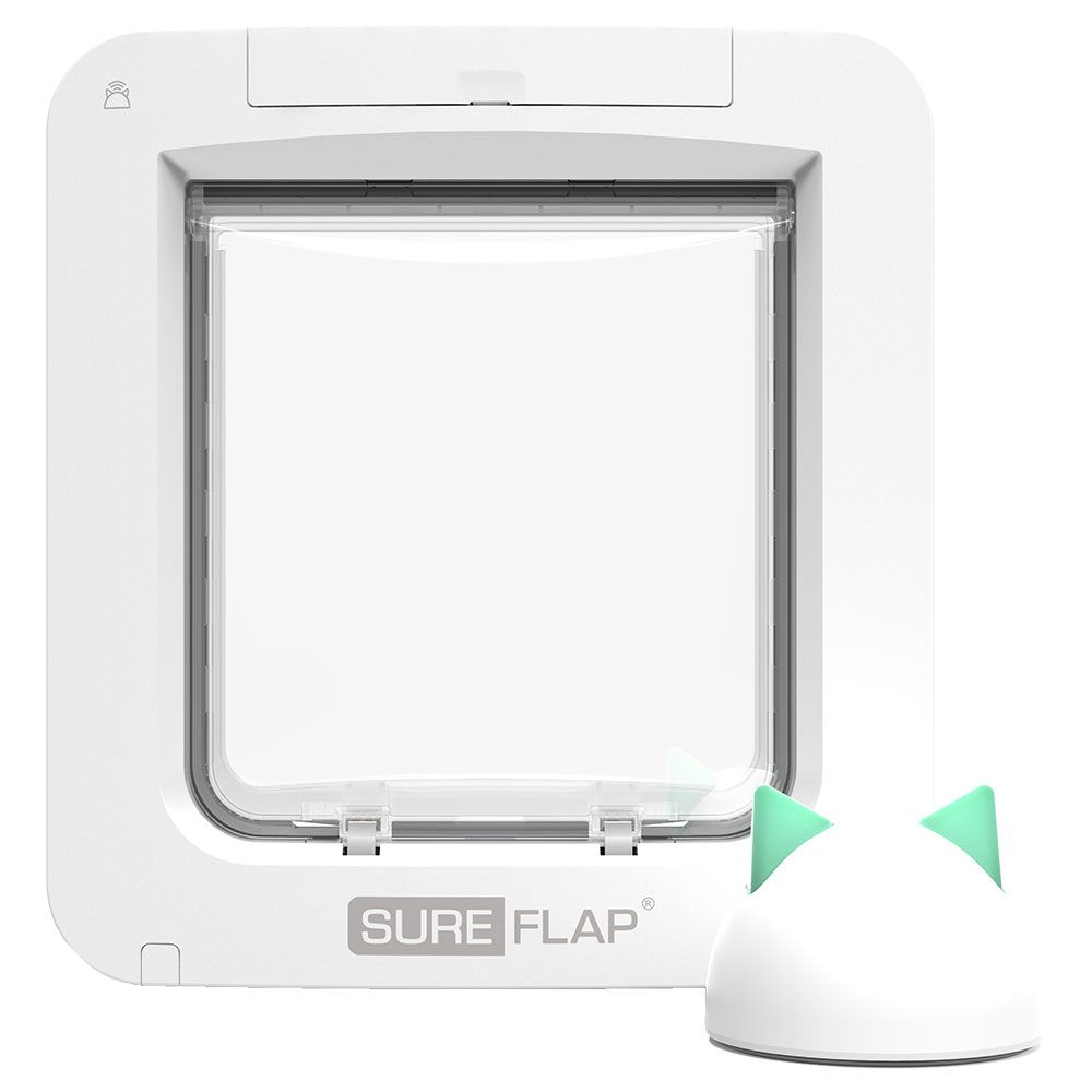 SureFlap Microchip Pet Door Connect Monteringsadapter för glas och metall, vit