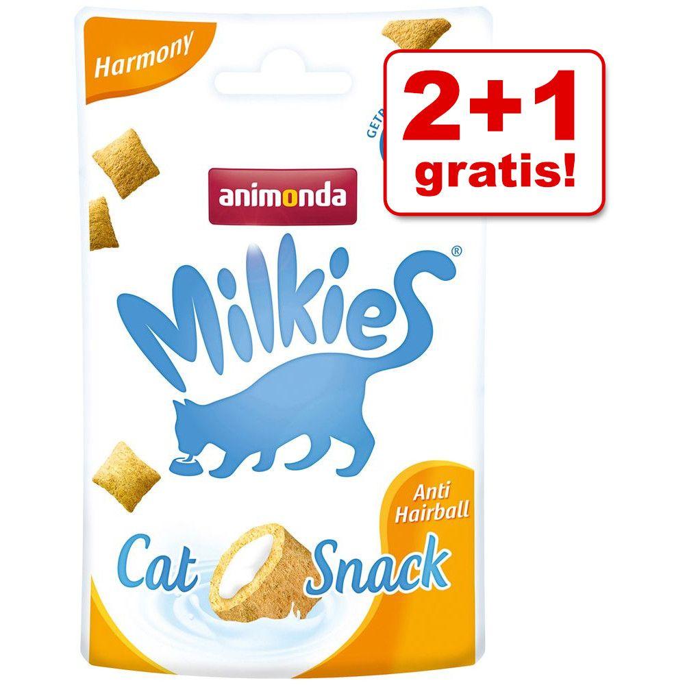 Image of 2 + 1 gratis! 3 x 30 g Animonda Milkies Harmony - Anti Hairball - 3 x 30 g