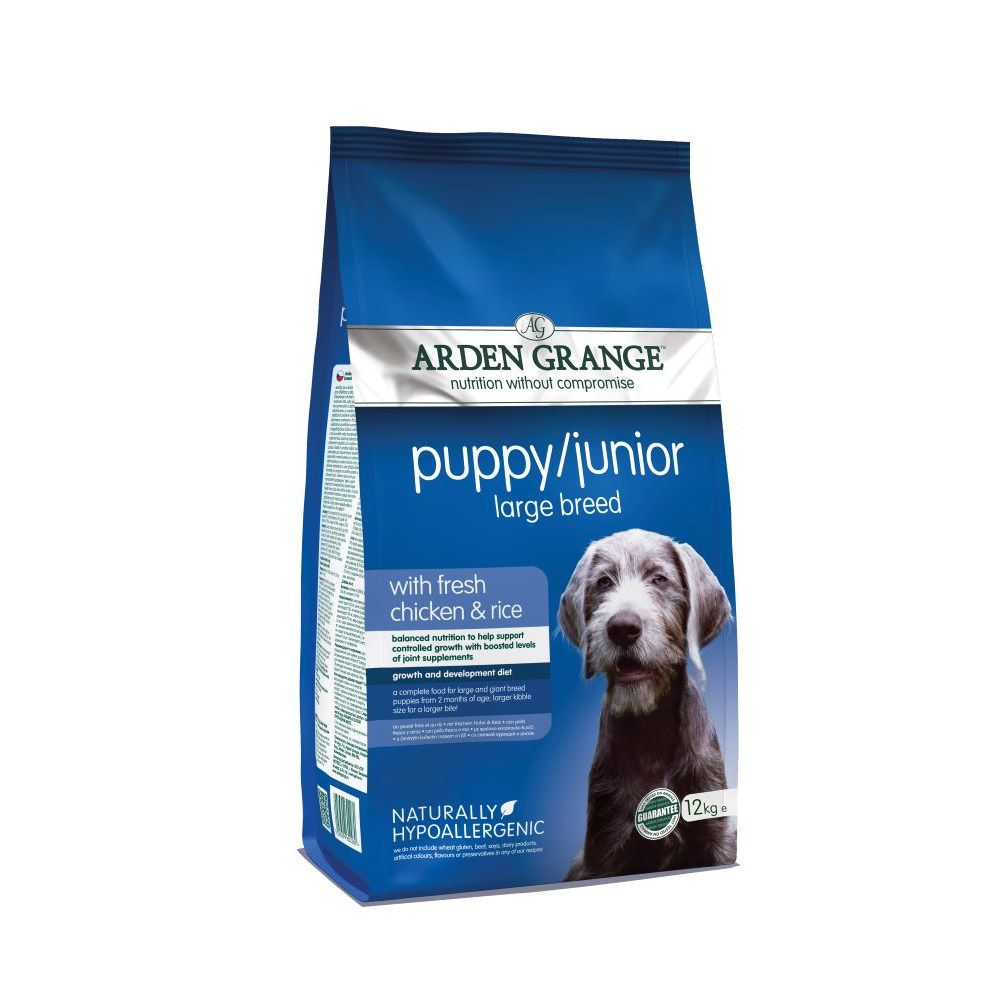 Large Puppy/Junior Chicken & Rice Arden Grange Dry Dog Food