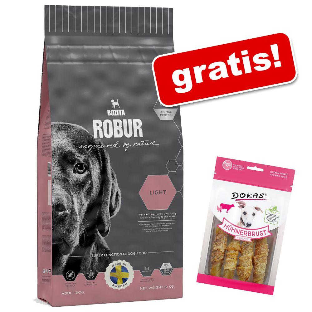 12 - 15 kg Bozita Robur hundmat + 90 g Dokas tuggrullar med kyckling på köpet! - Sensitive Single Protein Lamm & ris (15 kg)