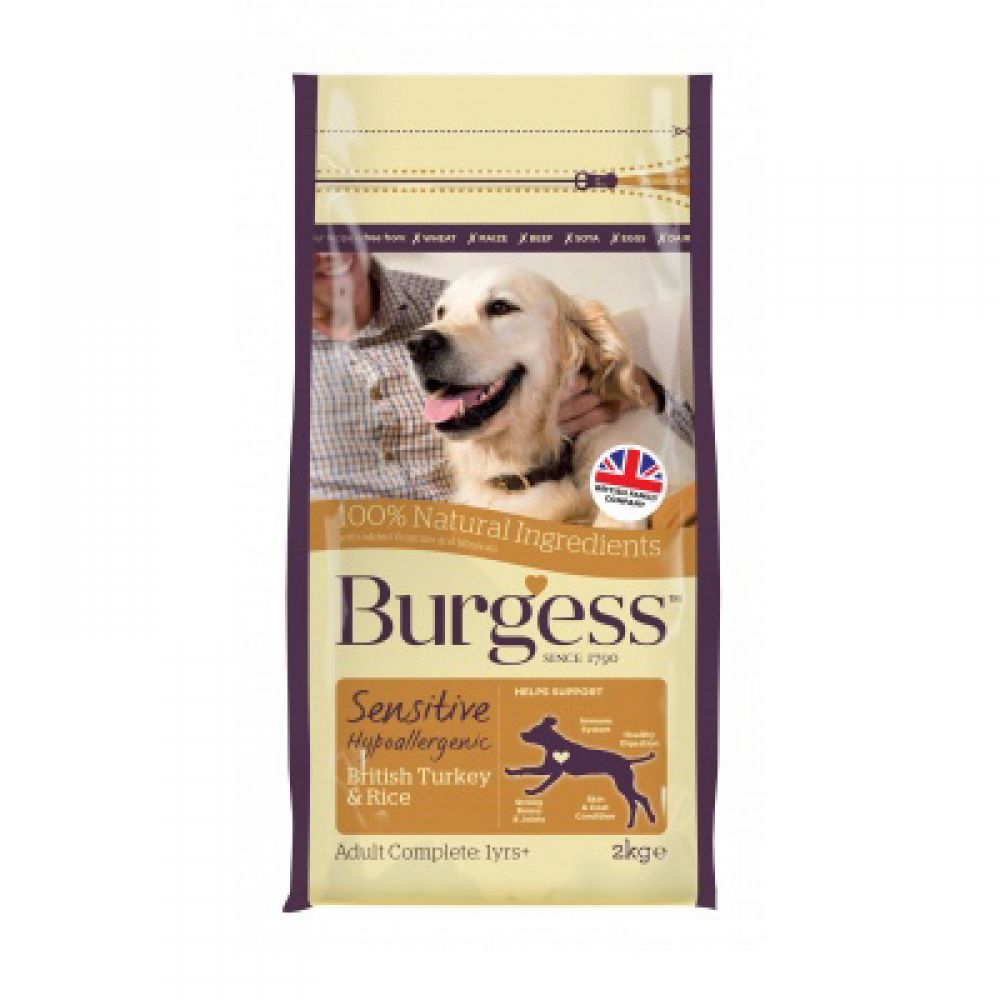 Burgess Sensitive Adult Dog Turkey & Rice