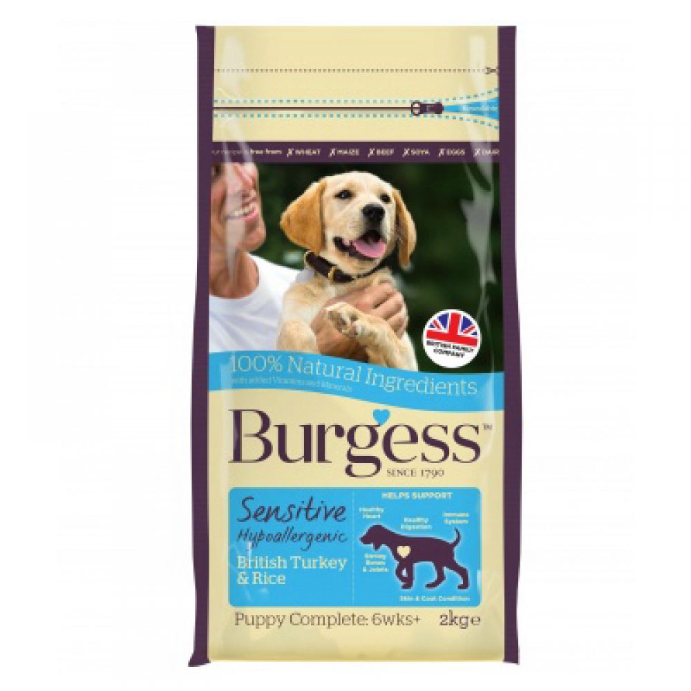 Burgess Sensitive Puppy Turkey & Rice Dog Food