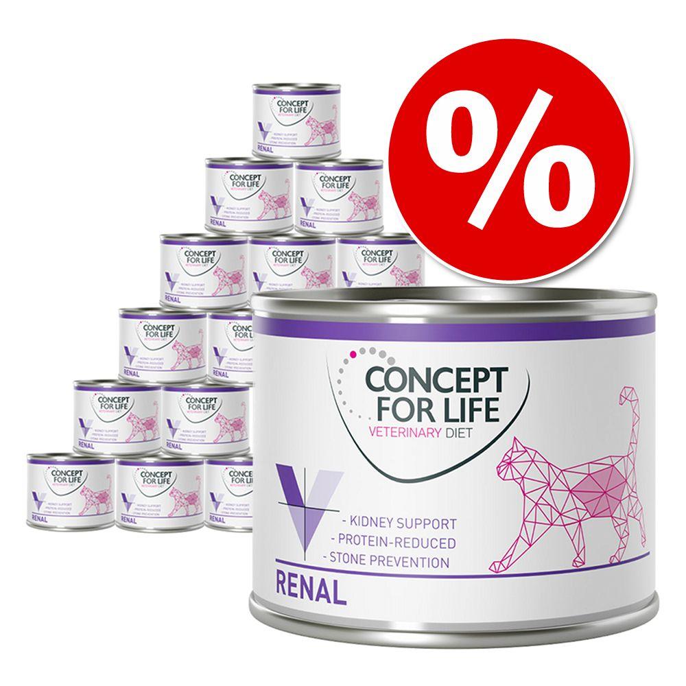 12 x 185 g /200 g  Concept for Life Veterinary Diet zum Sonderpreis! - Renal 12 x 200 g