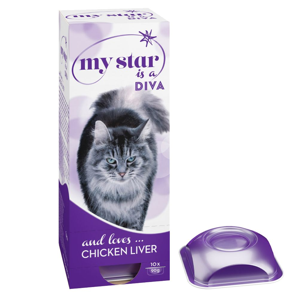 My Star is a Diva - Chicken Liver - Ekonomipack: 30 x 90 g