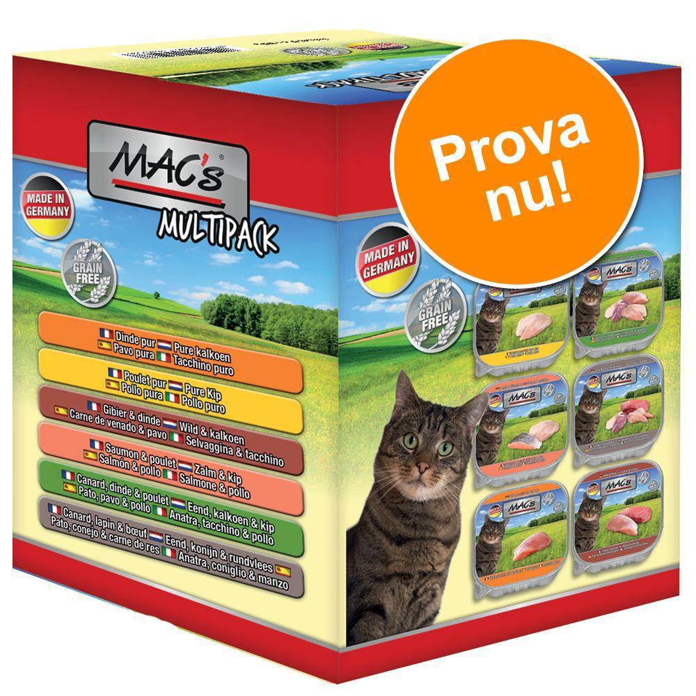 Provpack: 6 x 85 g MAC's Cat kattfoder i portionsform - Provpack (6 sorter)