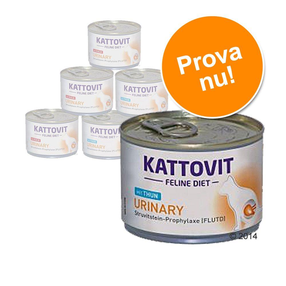 "Blandat provpack """"Kattovit Urinary"""" 6 x 175 g – Tonfisk och kalv"