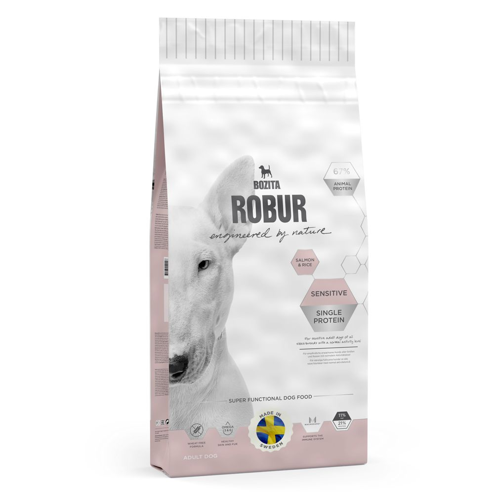Bozita Robur Sensitive Single Protein Salmon & Rice - Economy Pack: 2 x 12.5kg