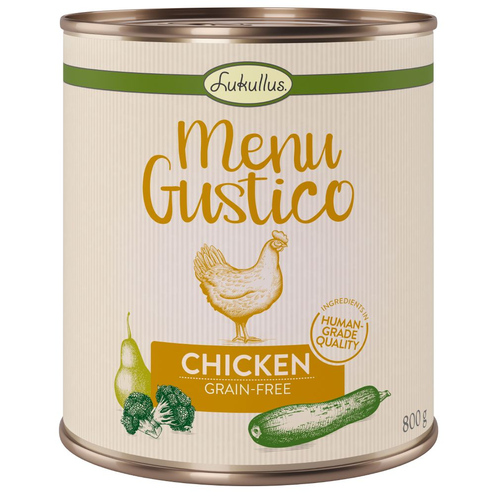 Chicken Broccoli Courgette Pear Menu Gustico Lukullus Wet Dog Food