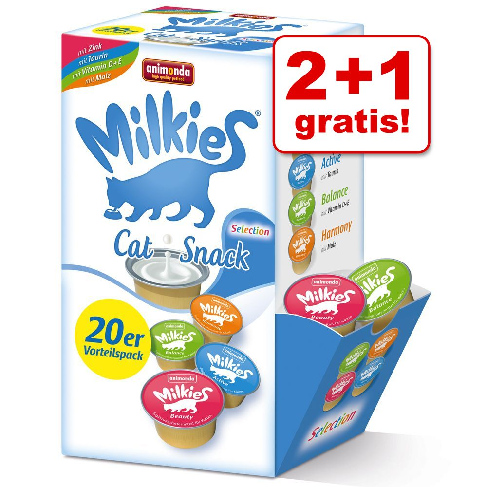 Image of 2 + 1 gratis! 60 x 15 g Multipack Animonda Milkies Selection - 60 x 15 g