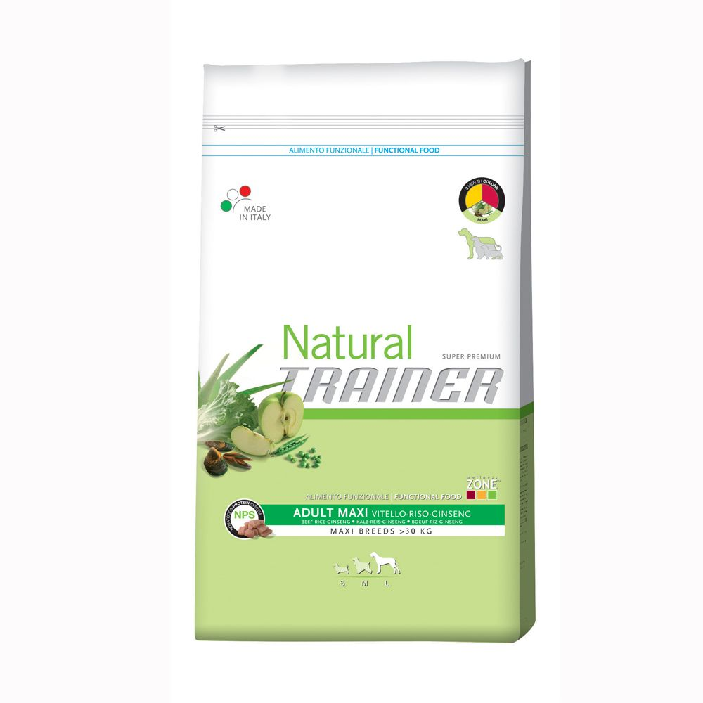 Foto Trainer Natural Adult Maxi Manzo, Riso e Ginseng - 12,5 kg Trainer Natural Size Maxi