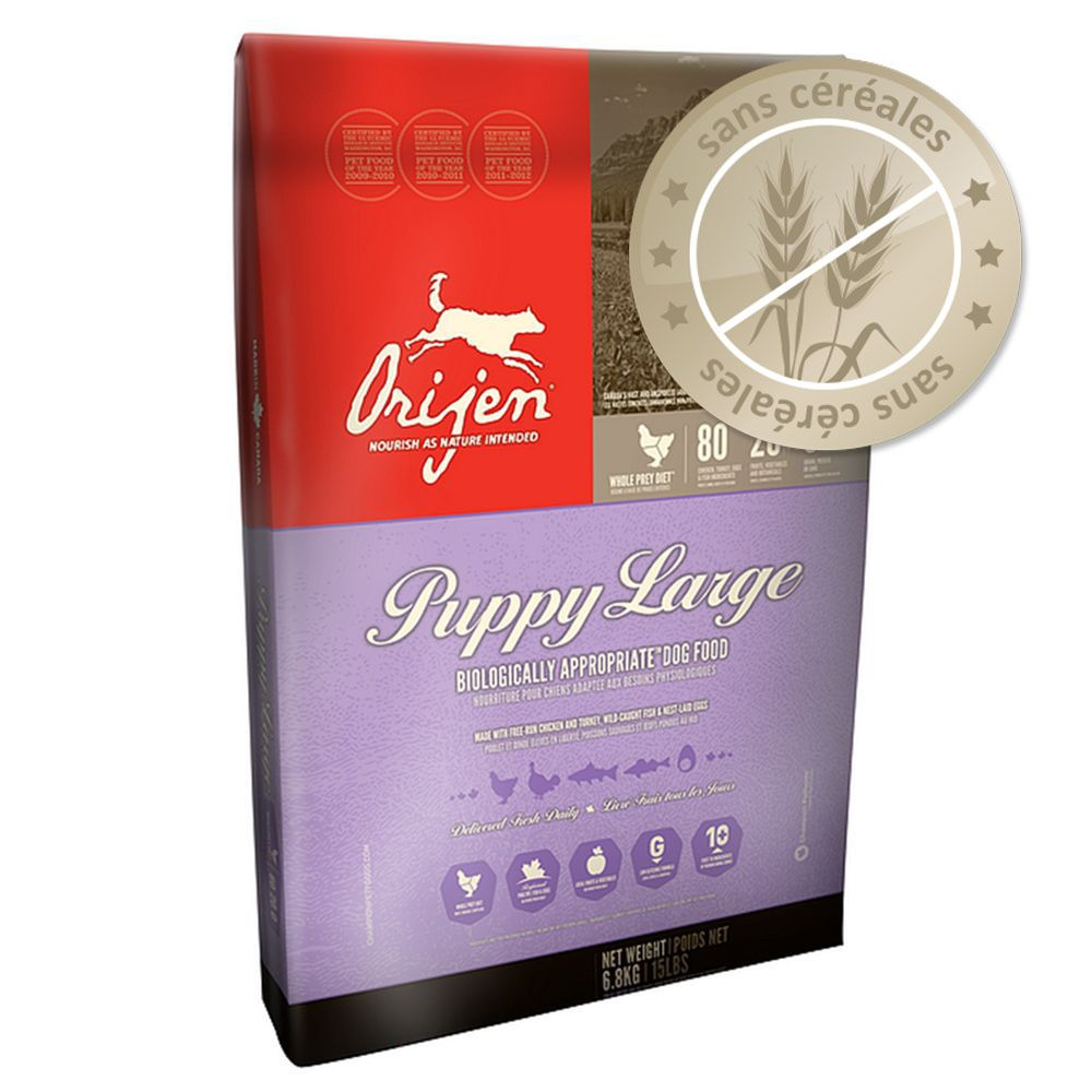 orijen puppy large feeding guide