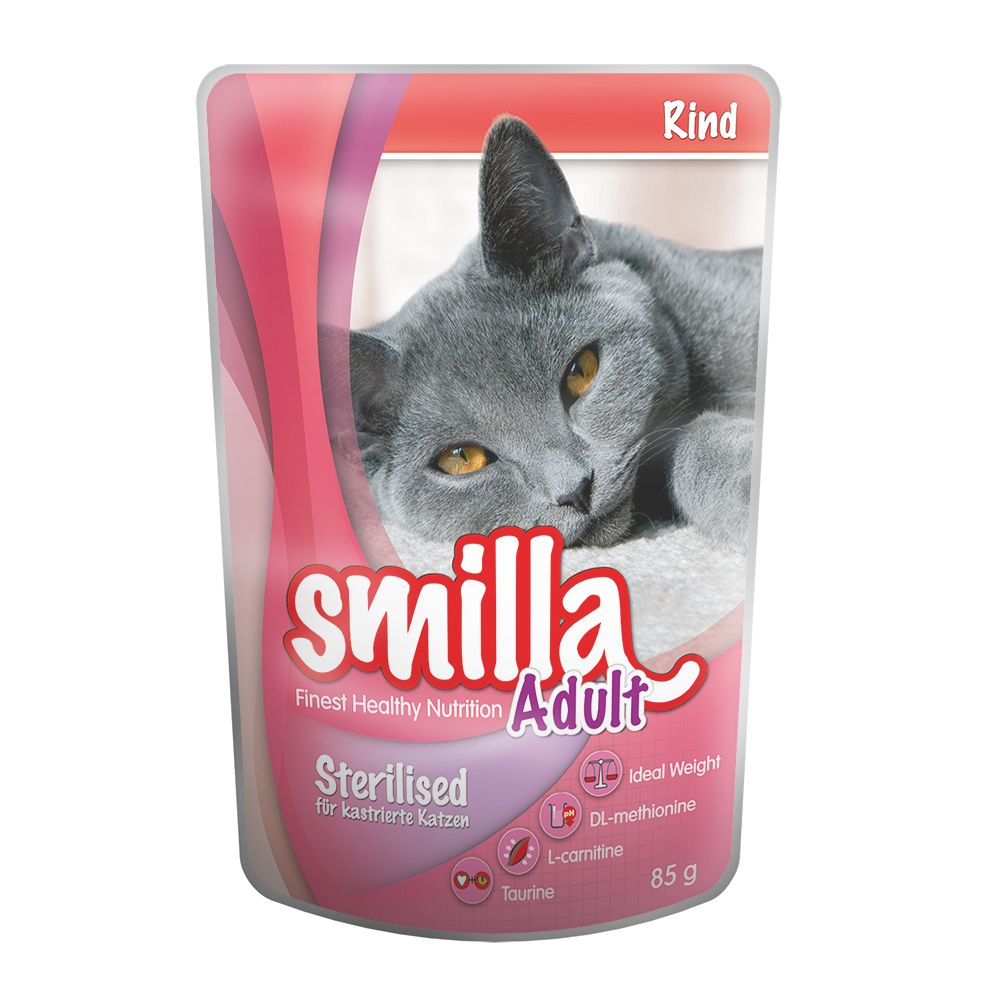 Smilla Adult Sterilised Pouches Mixed Pack - 12 x 85g