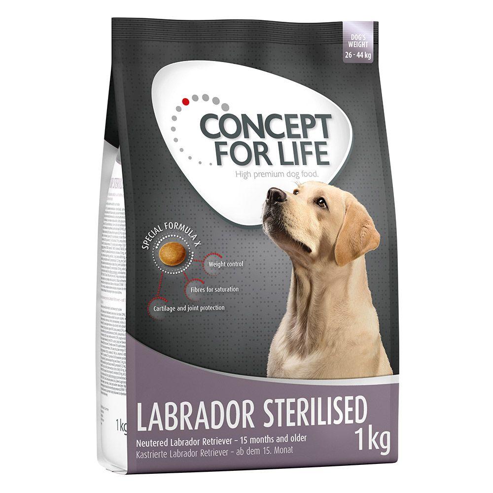 1kg Labrador Sterilised Concept for Life hundefoder