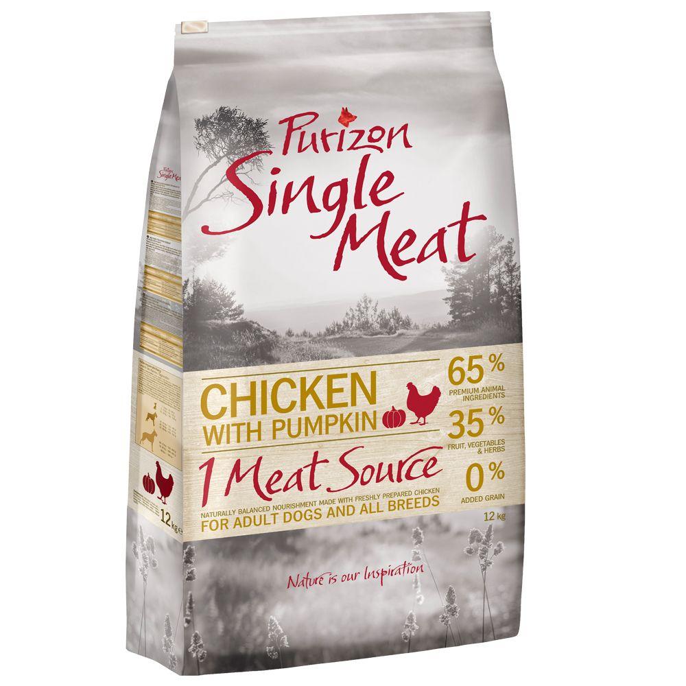 Purizon Single Meat Adult Chicken & Pumpkin - spannmålsfritt - 12 kg