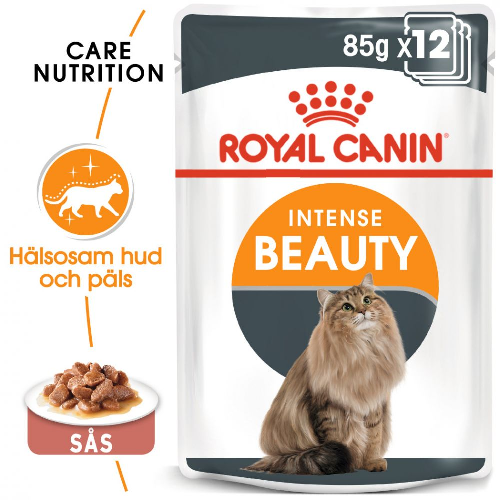 Royal Canin Intense Beauty i sås - 12 x 85 g
